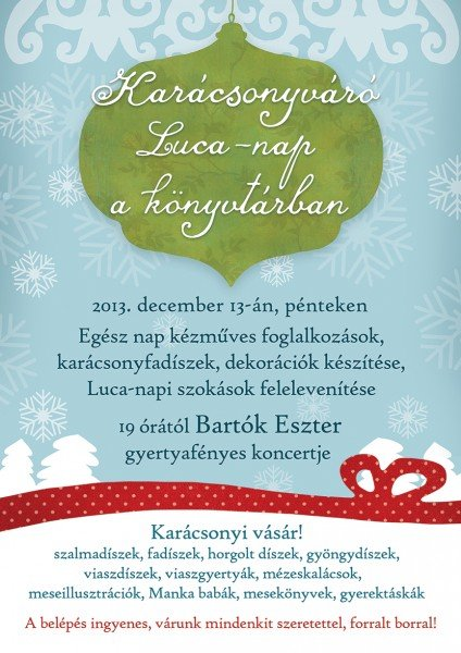 karácsonyváró luca nap plakát